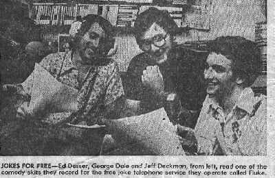 Newspaper Article, Ed, George & Jeff